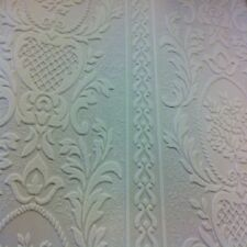 Anaglypta White Blown Vinyl Embossed Textured Paintable Pattern Wallpaper 261618