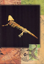 Set 3 maxicards Australia 1997 Wild Ancient Devonian Fish Amphibian Reptile