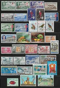 Philippines Stamps Collection of 34 Back of the Book Different Used Issues