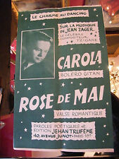 Partition Carola Rose de Mai Jean Zager Music Sheet