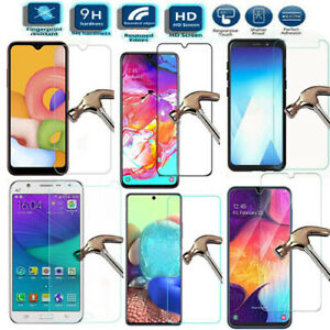 NEW HD 9H Tempered Screen Saver Protector For Samsung Galaxy 2016 2017 2018 2020