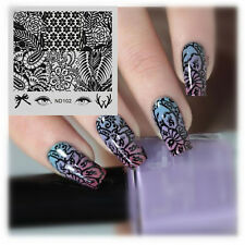 Nail Art Stamping Image Plate Manicure Stamp Stencil Template Floral Theme ND102