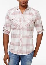 I.N.C. Men's Dual-Pocket Plaid Shirt, Grecian Throne, Size L, MSRP $49