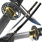 40.5' Handmade Full Tang Sharp SAMURAI KATANA Sword Classic Crane MUSASHI TSUBA