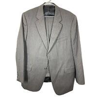 Paul Dione Men's Gray Pinstriped Wool Blazer Sport Coat & Pants Suit Size 44R