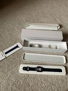 Apple Watch Series 1 42mm Gold Aluminum Case, Navy Blue Sport Band & Box A1554