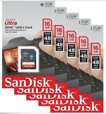 Lot 5 x SanDisk Ultra 16GB 16G SD SDHC Class 10 48MB/s Secure Digital Card UHS-I