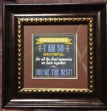 "Grandfather Heartfelt Inc. Picture In 7 1/2"" Square Bronze Frame Tabletop Gift"