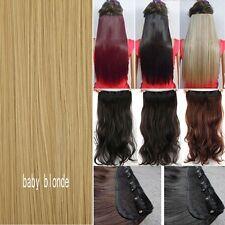 HairExtensionsClipinHairExtensionRealHumanFeelLong17-30Inch1PcsPT5