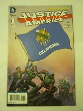 April 2013 DC Comics Justice League Of America #1 Oklahoma Flag <VF/NM> (JB-92)