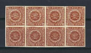 Denmark REPLICA of proof RBS from Dansk Post & Telegraf museum block 8 MNH