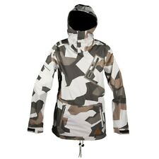 Neff Raptor Anorak Style Shell Snowboard Jacket Men's Large White Camo New