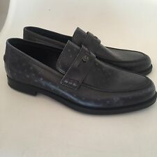 be8ce68f64b Jimmy Choo Darblay Black Calf Leather Loafers With Embossed Stars 43 UK 9