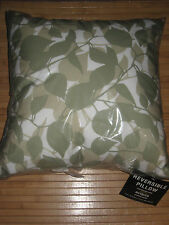 """Eclipse Woodland Leaves Sage 18"""" Decorative Throw Pillow New"""