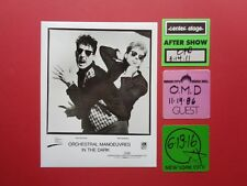 Orchestral Manoeuvers in the Dark,Omd,1 promo photo,6 Backstage passes,Originals