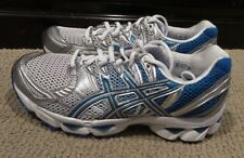NEW Asics Gel Nimbus 12 Mens Running Shoes White BLUE GREY Size 9.5 #T095N