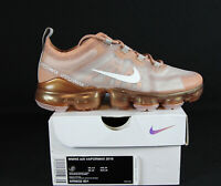 New Nike Air VaporMax 2019 Women's in Rose Gold/Summit White Colour Size 7