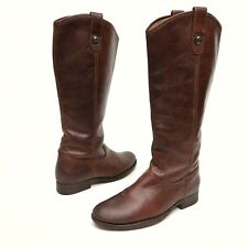 @@ FRYE Women's Boots Melissa 7 B Button Tall Brown Leather Riding Cognac 77167