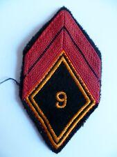Losange tissu modèle 1945 patch 9° RCP REGIMENT CHASSEURS PARACHUTISTES caporal