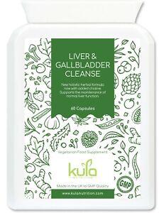 Liver Cleanse Complex plus Choline  - Strong Herbal Detox - 60 Vegan Capsules