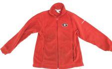Columbia Georgia Bulldogs UGA Red zip up Jacket Youth 14/16 XL Women's small