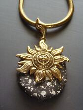 Pierre Lang Anhänger Sonne gold / schwarz *** Topzustand * Sammlerstück *
