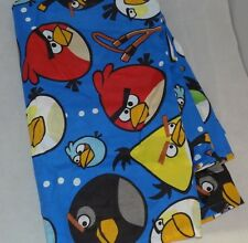 Angry Birds Blue Twin Flat Bed Sheet Only