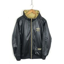 Adidas Chile 62 Reversible Zip Up Hoodie Size M Black / Gold