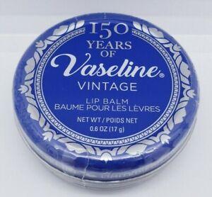 Vaseline Lip Balm in 150 Year Throwback Vintage Tin .6oz Sealed New