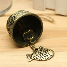 Metal Fengshui Bell Temple Garden Copper Fish Hanging Wind Chime ~~~~
