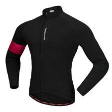 Abrigo Chaqueta De Ciclismo Térmico Calce Ajustado Mangas Largas Ropa de Ciclismo Camiseta De Bicicleta