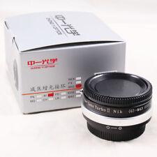 Zhongyi Lens Turbo II Focal Reducer Adapter Nikon F AI G to Micro 4/3 M43