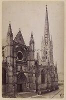 Bordeaux Eglise San Michel Francia Stampa Albume D'Uovo Vintage Ca 1875