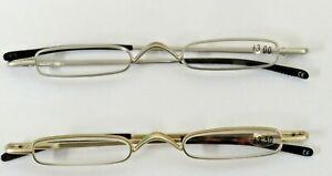 Pocket / Pen Holder Silver / Gold Framed Pocket Reading Glasses Travel Clearance