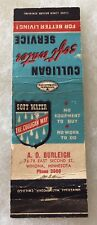 Winona Minnesota THE CULLIGAN WAY @@ A.O. BURLEIGH Matchbook Cover OLD!