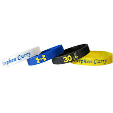 STEPHEN CURRY WARRIORS RUBBER BRACELETS (4) ~ Birthday Party Supplies NBA Sports
