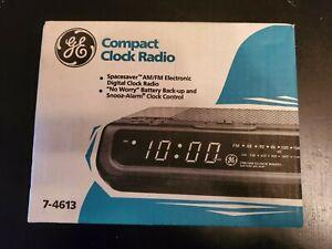 Vintage GE General Electric SpaceSaver Digital Alarm Clock Radio 7-4613 NIB NEW