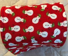 "Holiday Snowmen Red Puppy Belly Band~Diaper Wrap~L~18""-21"" x 5""~Reverse to Black"