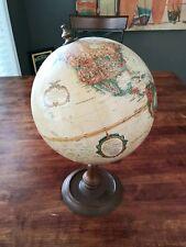 "Vintage Replogle World Classic Globe 9"" Diameter Wood Base"