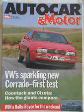 Autocar 31/5/89 VW Corrado 16v, Ford Fiesta 1.4 Ghia