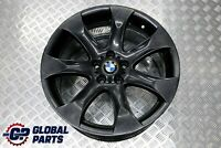 "BMW X5 E53 Front Black Alloy Wheel Rim 20"" ET:45 9,5J V-Spoke 168 6766068"