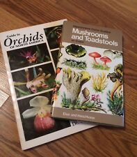 Vintage Nature Field Guides: Mushrooms & Toadstools; Orchids of North America