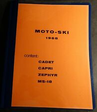 VINTAGE 1968 MOTO-SKI CADET, CAPRI,ZEPHYR, MS-18 SNOWMOBILE PARTS MANUAL (807)