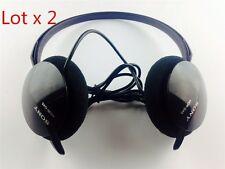 Lot x 2 Original Sony MDR-G45LP Street Style Neckband Headphones Headset Black