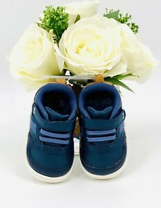 Stride Rite Alec Baby Boy Sneakers Sz 4 Casual Shoe Navy Blue First Walkers NEW!