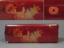 Antique Japanese Glove Box, Flowers, Butterfly and Bird