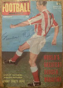 Signed Stanley Matthews England Football Autograph Stoke City Magazine Poster