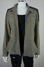 Ralph Lauren Womens Size 10 Wool Black Houndstooth Peplum Casual Coat Jacket NWT