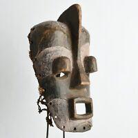 Luba tribe wooden mask tribal art Congo