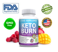 Keto BURN Diet Pills 1200 MG Ketosis Weight Loss Supplements To Fat Burn&Carb